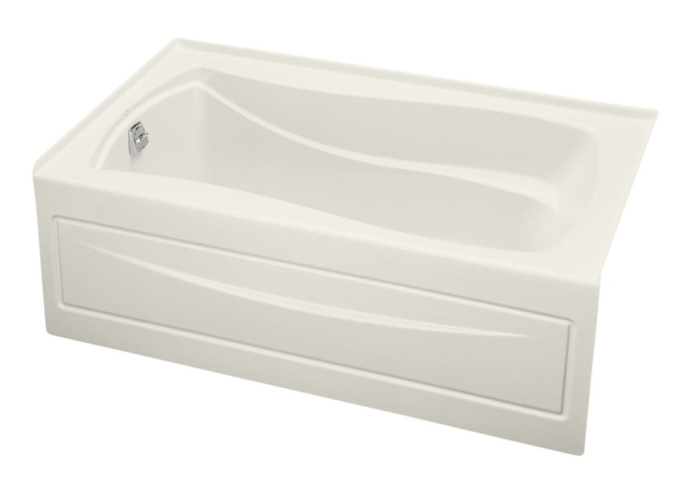 Mariposa 5 Feet Bathtub with Left-Hand Drain in Biscuit