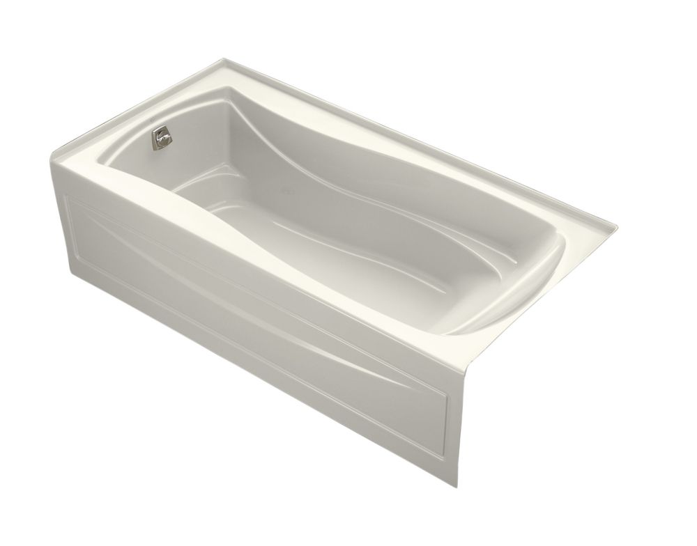 Mariposa 6 Feet Alcove Bathtub in Biscuit