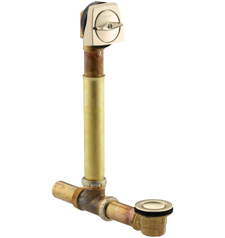 Clearflo 1-1/2 Inch Adjustable Pop-Up Drain in Vibrant French Gold K-7161-AF-AF in Canada