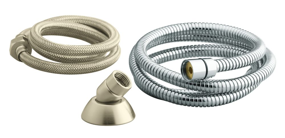 Three-Way Handshower Hose Guide in Vibrant Brushed Nickel