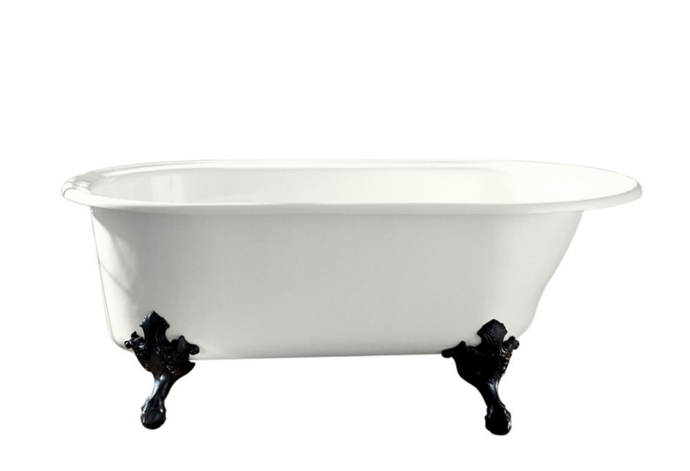 KOHLER Iron Works Historic 36-Inch W Bathtub in White