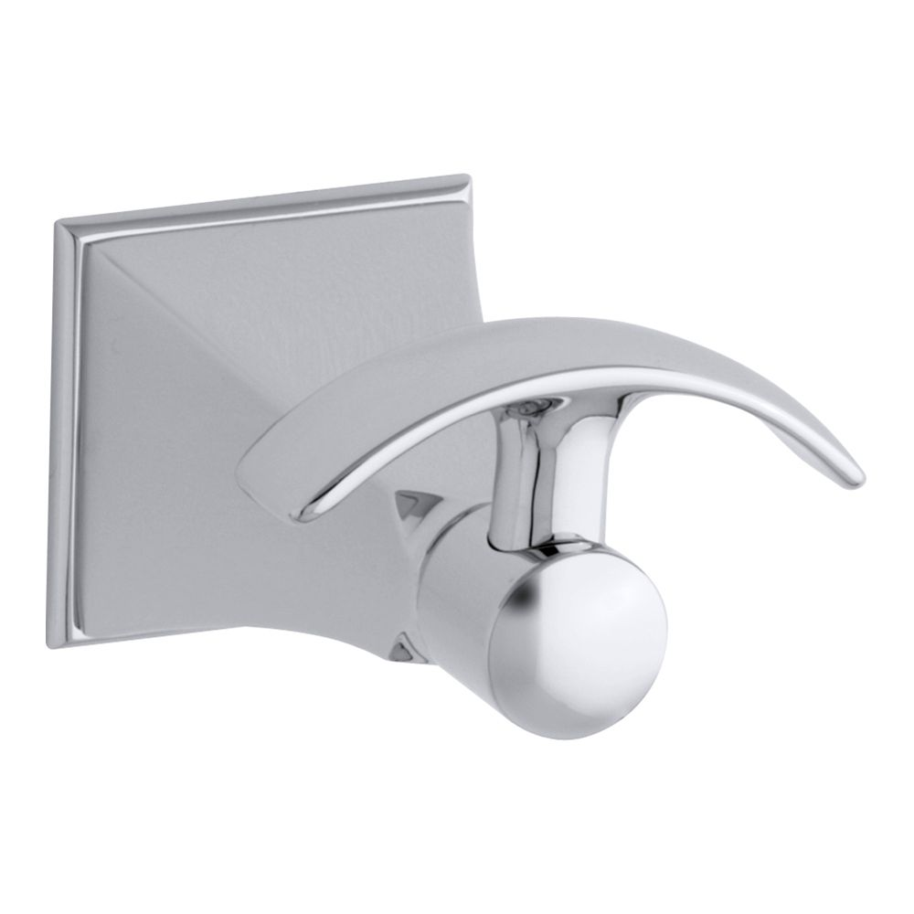 Memoirs Robe Hook With Stately Design in Polished Chrome