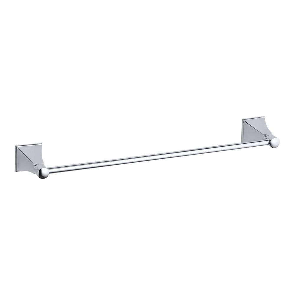 Memoirs 18 Inch Towel Bar With Stately Design in Polished Chrome