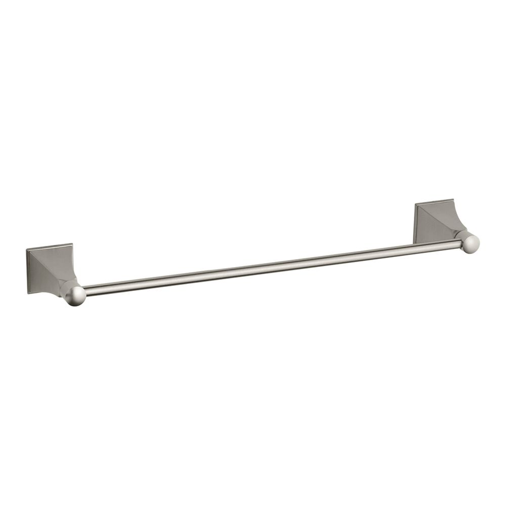Memoirs 18 Inch Towel Bar With Stately Design in Vibrant Brushed Nickel