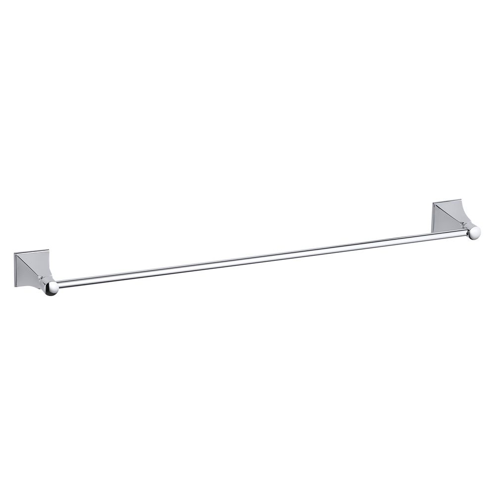 Memoirs 24 Inch Towel Bar With Stately Design in Polished Chrome