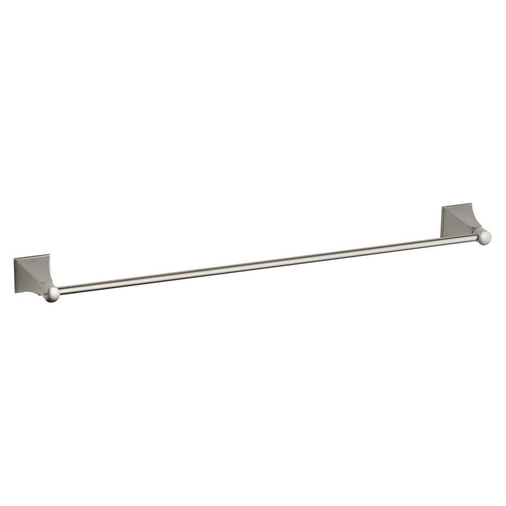 Memoirs 24 Inch Towel Bar With Stately Design in Vibrant Brushed Nickel