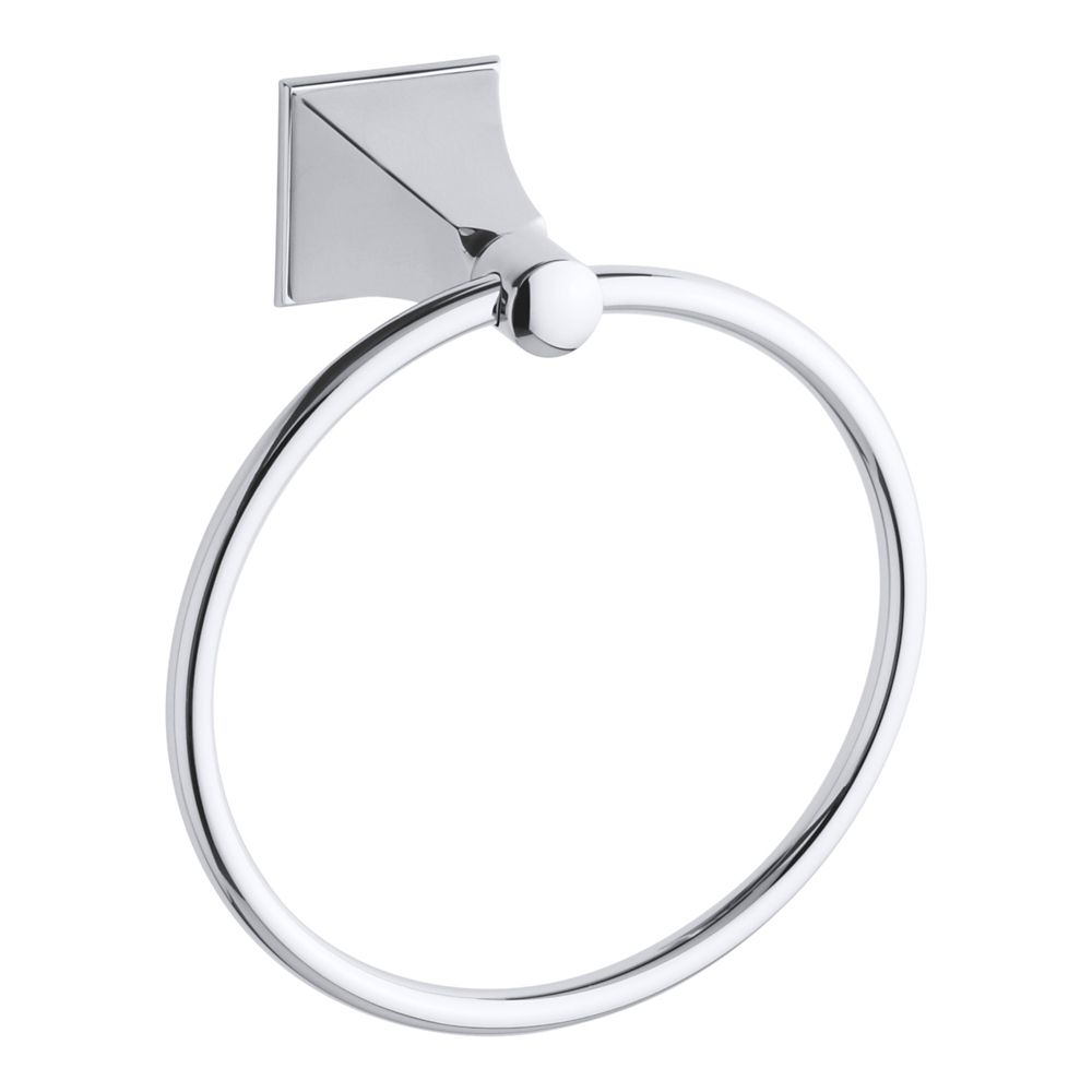 Memoirs Towel Ring With Stately Design in Polished Chrome