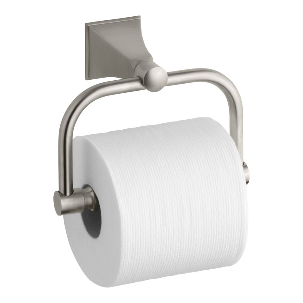 Memoirs Toilet Tissue Holder With Stately Design in Vibrant Brushed Nickel