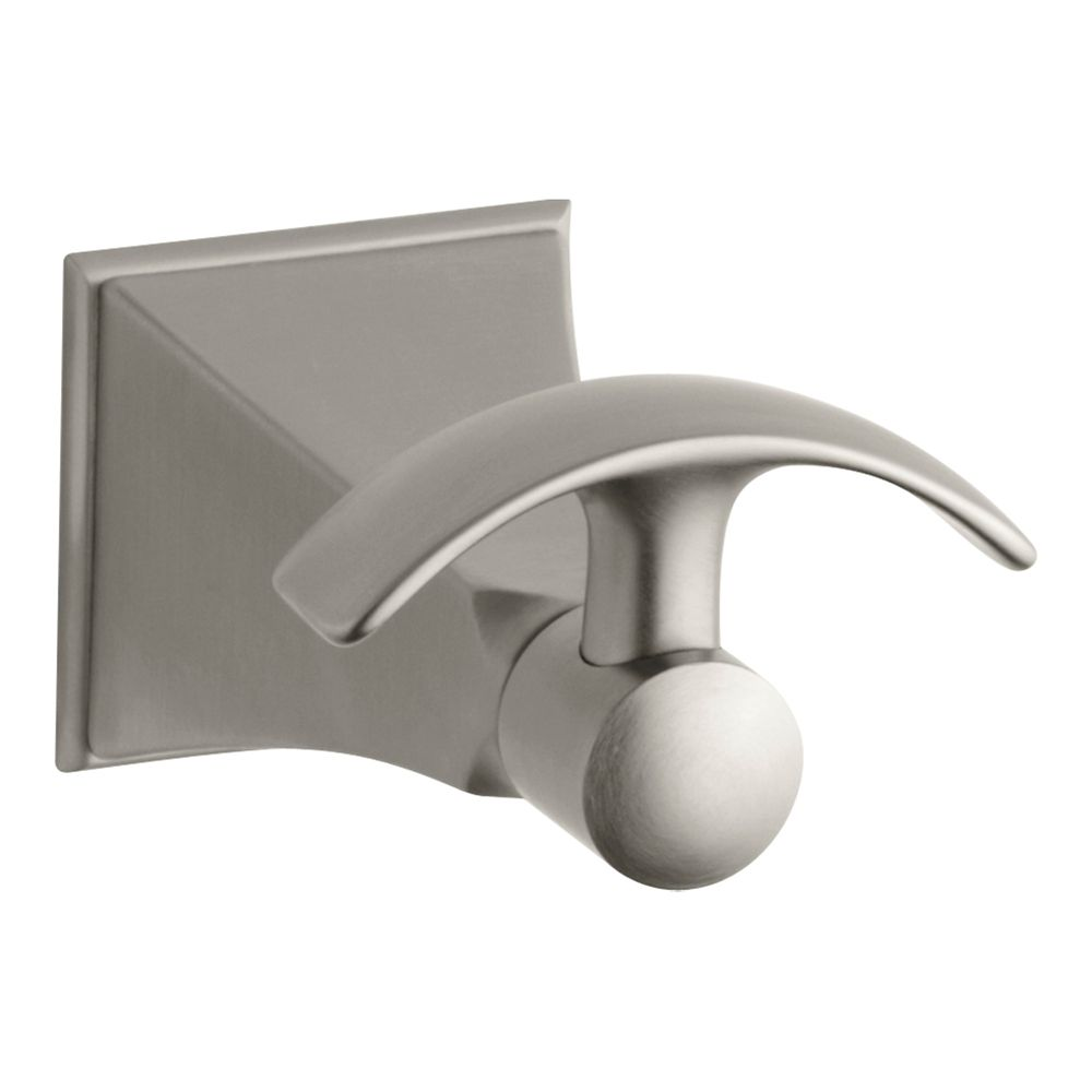 Memoirs Robe Hook With Stately Design in Vibrant Brushed Nickel