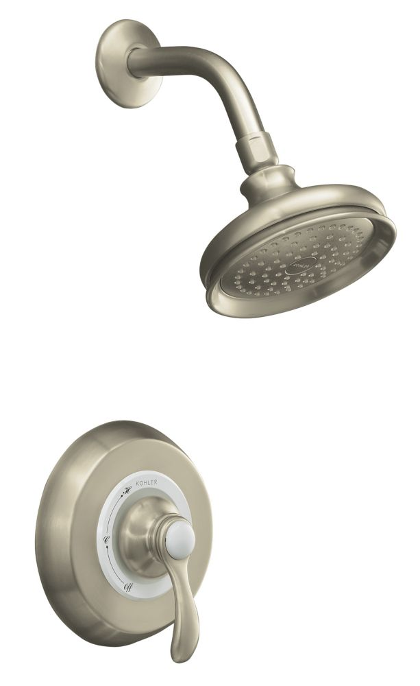 KOHLER Fairfax Rite-Temp Pressure-Balancing Shower Faucet in Vibrant Brushed Nickel