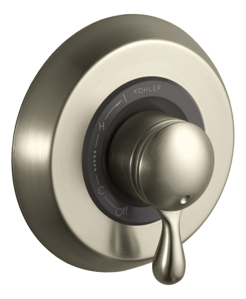 Mastershower<sup>®</sup> Rite-Temp<sup>®</sup> Hi-Flow Valve Faucet in Vibrant Brushed Nickel