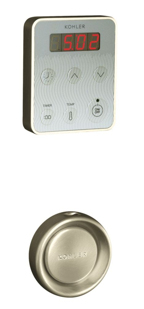 Steam Generator Control Kit in Vibrant Brushed Nickel