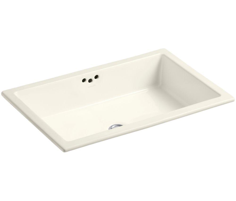 KOHLER Kathryn(R) 23-7/8 inch x 15-5/8 inch x 6-1/4 inch under-mount bathroom sink with glazed underside
