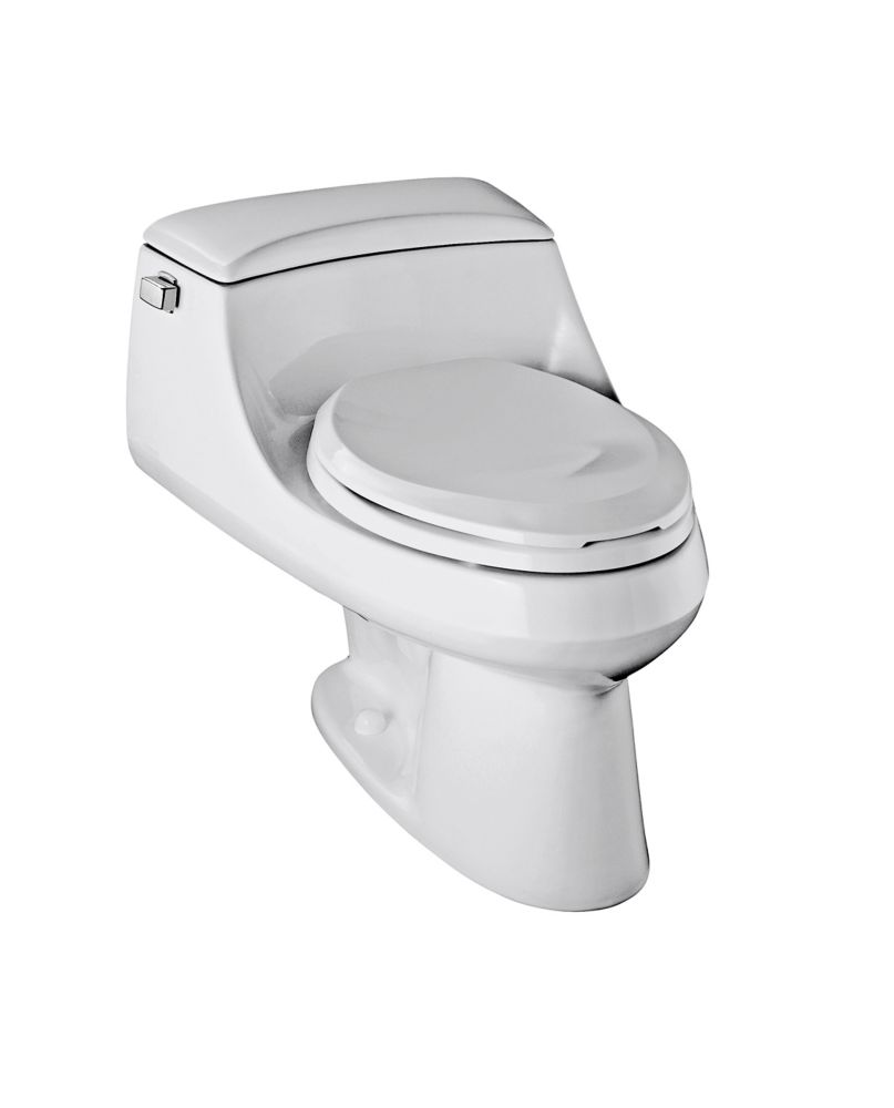 kohler san raphael tm one piece 1 6 gal elongated toilet in white the home depot canada. Black Bedroom Furniture Sets. Home Design Ideas
