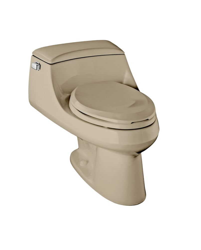 kohler san raphael tm one piece 1 6 gal elongated toilet in mexian sand the home depot canada. Black Bedroom Furniture Sets. Home Design Ideas