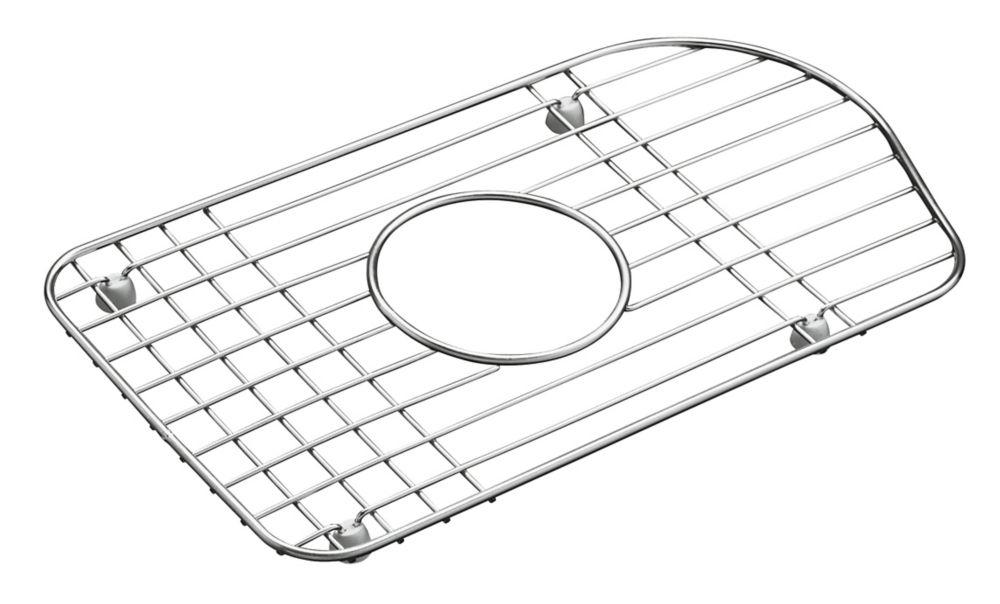 kohler petite grille de fond de la cuve large en acier inoxydable s piajuste l pi vier de. Black Bedroom Furniture Sets. Home Design Ideas