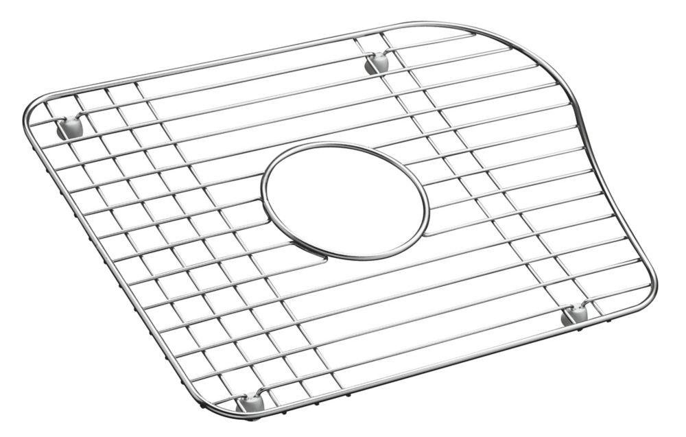 Stainless Steel Bottom Basin Rack For Left-Hand Basin in Stainless Steel