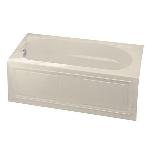 "KOHLER Devonshire(R) 60"" x 32"" alcove bath with integral apron, integral flange and left-hand drain"