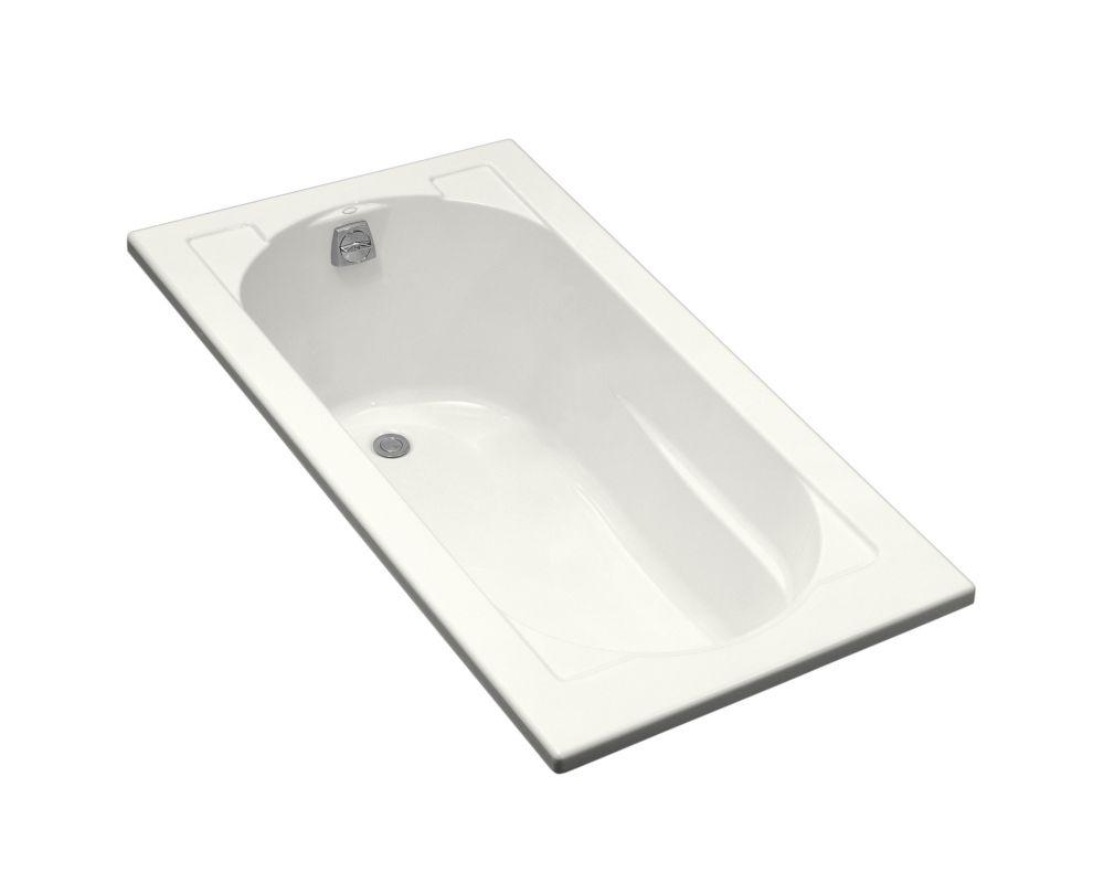 KOHLER Devonshire 5 ft. Reversible Drain Drop-In Acrylic Soaking Tub in White