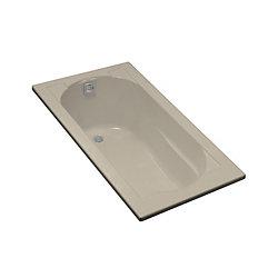 "KOHLER Devonshire(R) 60"" x 32"" drop-in bath with reversible drain"