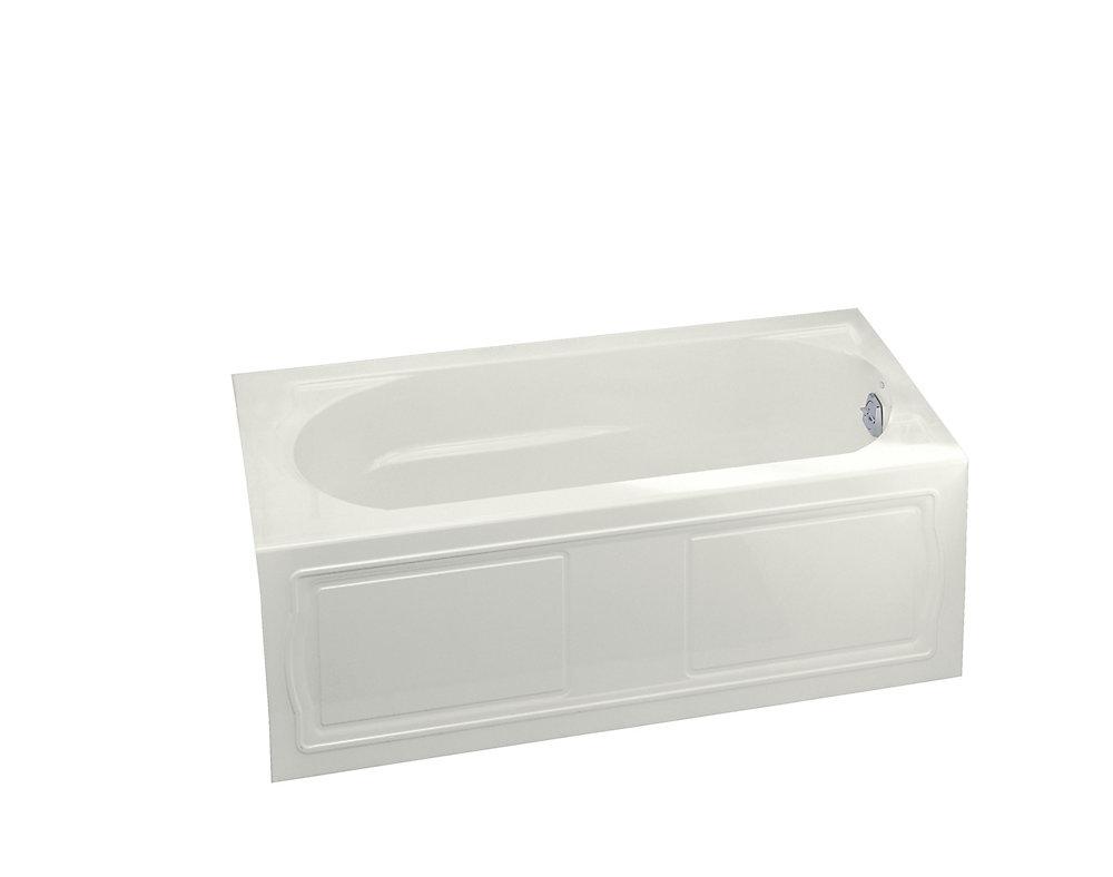 "Devonshire(R) 60"" x 32"" alcove bath with integral apron, integral flange and right-hand drain"