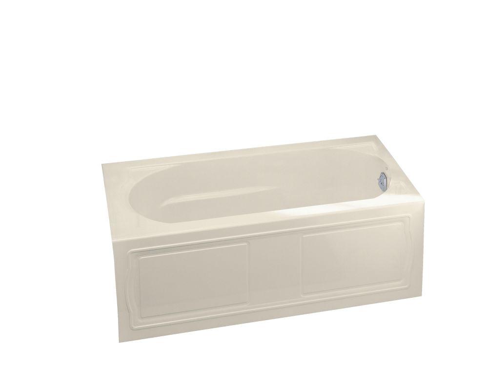 KOHLER Devonshire Bathtub with Right-Hand Drain in Almond