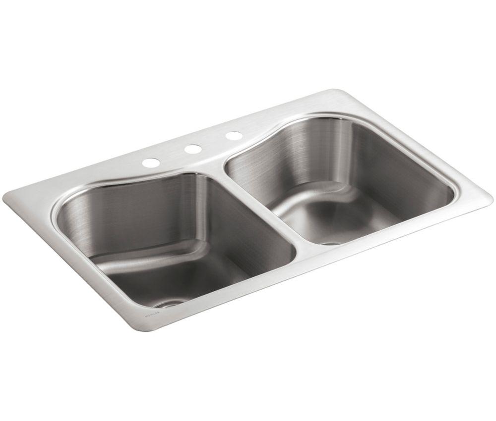 Kitchen Sink Discount : ... Tm) Double-Basin Self-Rimming Kitchen Sink K-3369-3-NA Canada Discount
