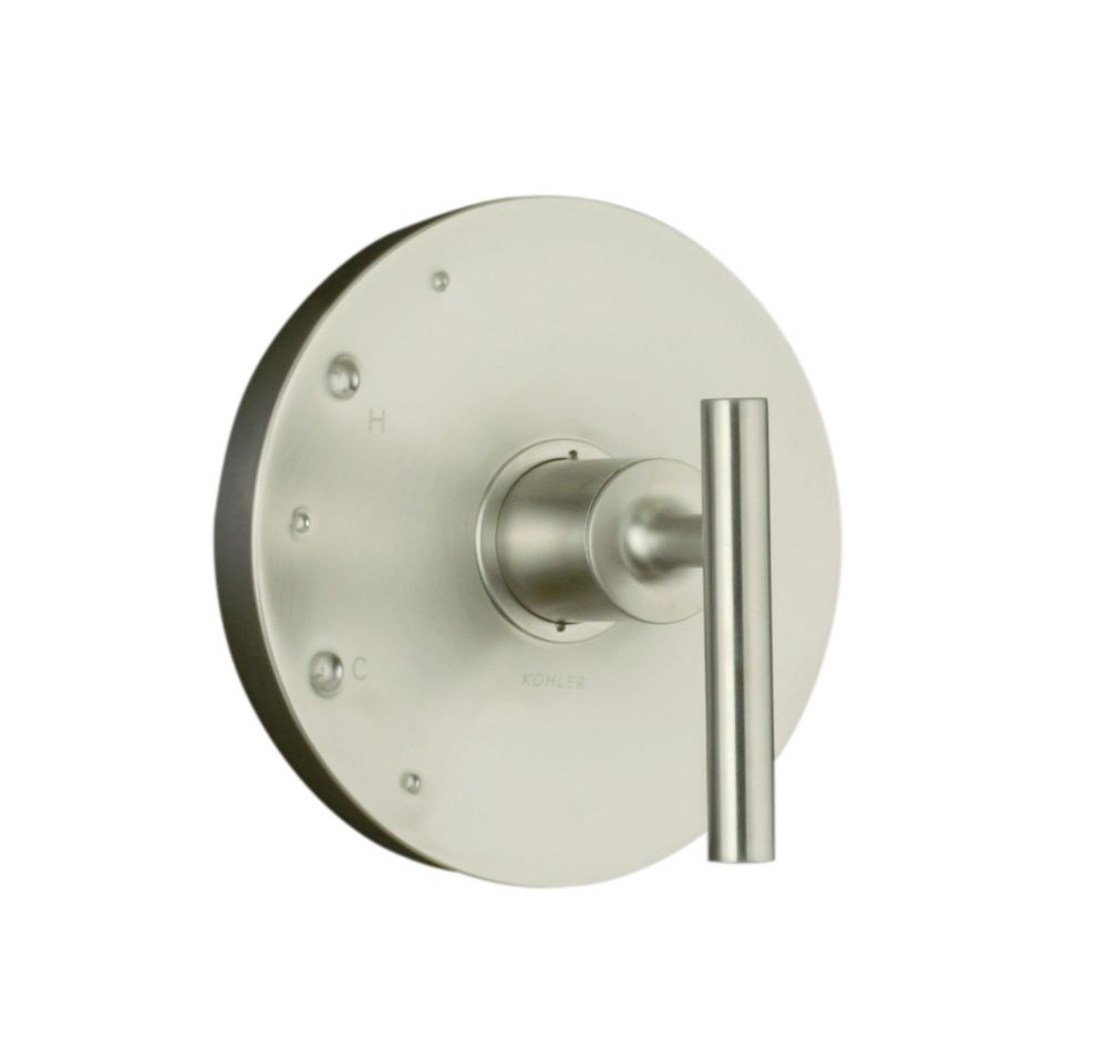 Purist Rite-Temp Valve Trim, Valve Not Included in Vibrant Brushed Nickel