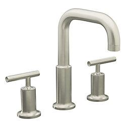 KOHLER Purist(R) deck-mount bath faucet trim for high-flow valve with lever handles, valve not included