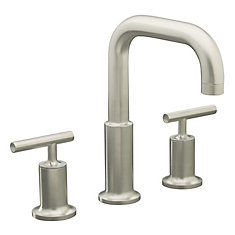 Purist(R) deck-mount bath faucet trim for high-flow valve with lever handles, valve not included