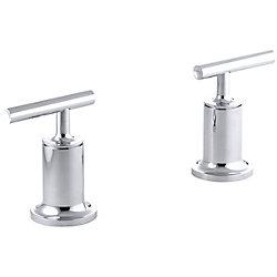 KOHLER Robinetterie de baignoire a haut debit Purist, montage au mur ou en surface, avec poignees a levier; poignees seulement, robinet non inclus