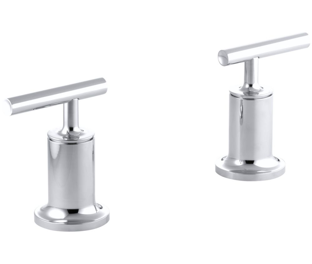 Purist  Deck- Or Wall-Mount High-Flow Bath Trim, Valve Not Included in Polished Chrome