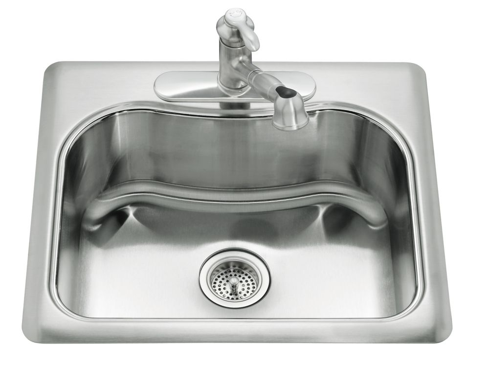 Staccato(Tm) Single-Basin Self-Rimming Kitchen Sink