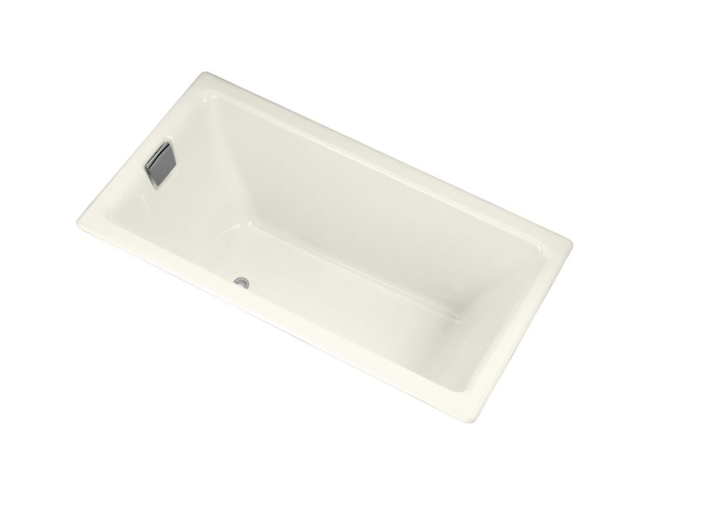 Tea-For-Two<sup>®</sup> 5 Feet 6-Inch Cast Iron Drop-in Non Whirlpool Bathtub in Biscuit