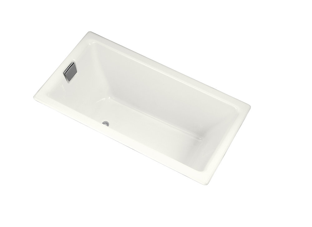 "Tea-for-Two(R) 66"" x 36"" alcove bath with integral flange and right-hand drain"
