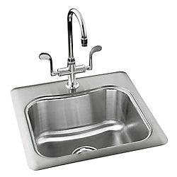 KOHLER Staccato(Tm) Single-Basin Self-Rimming Entertainment Kitchen Sink