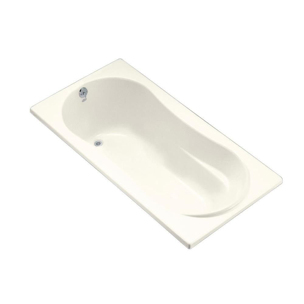 6 Feet Alcove Bathtub in Biscuit