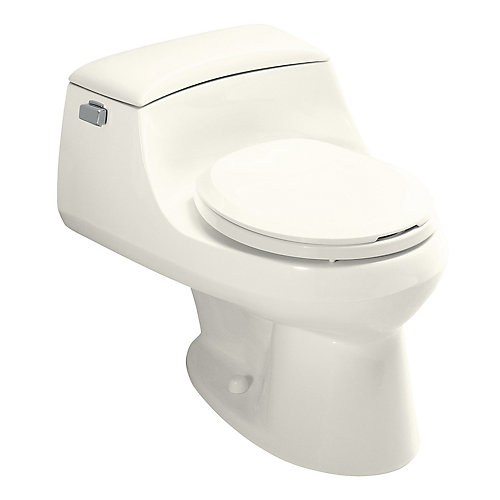 San Raphael 1-piece 1.6 GPF Single Flush Round Bowl Toilet in Biscuit