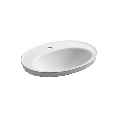 Bathroom Sinks Home Depot Canada kohler serif self-rimming bathroom sink in white | the home depot