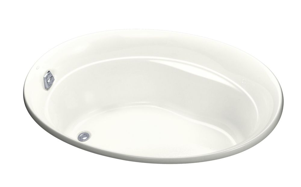 Serif 5 Feet Acrylic Drop-in Non Whirlpool Bathtub in White