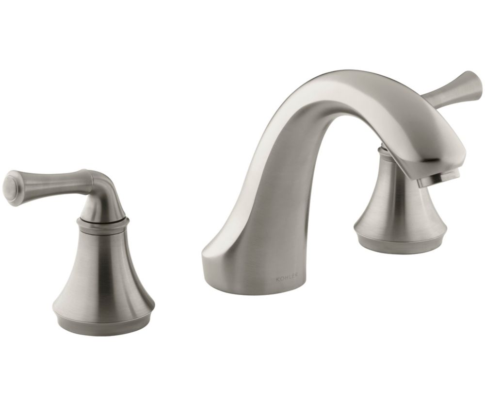 Forté Deck-Mount Bath Faucet in Vibrant Brushed Nickel