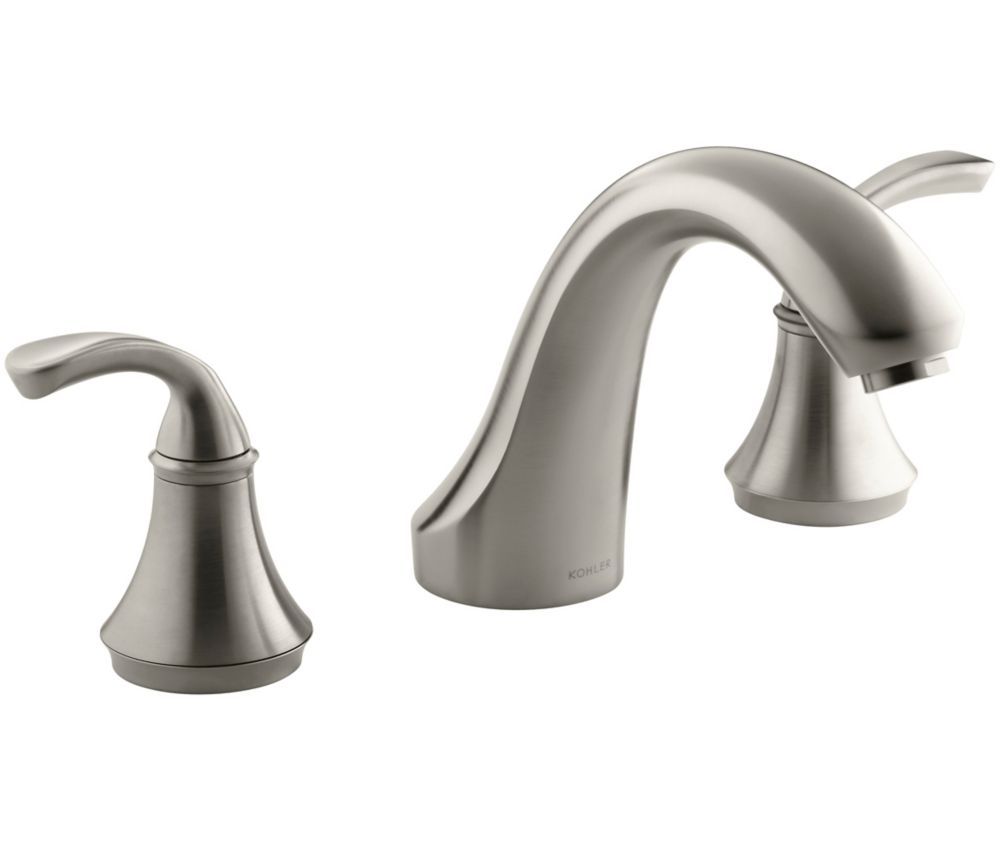 KOHLER Forté Bath or Deck-Mount Rim Valve Trim Only in Vibrant Brushed Nickel Finish