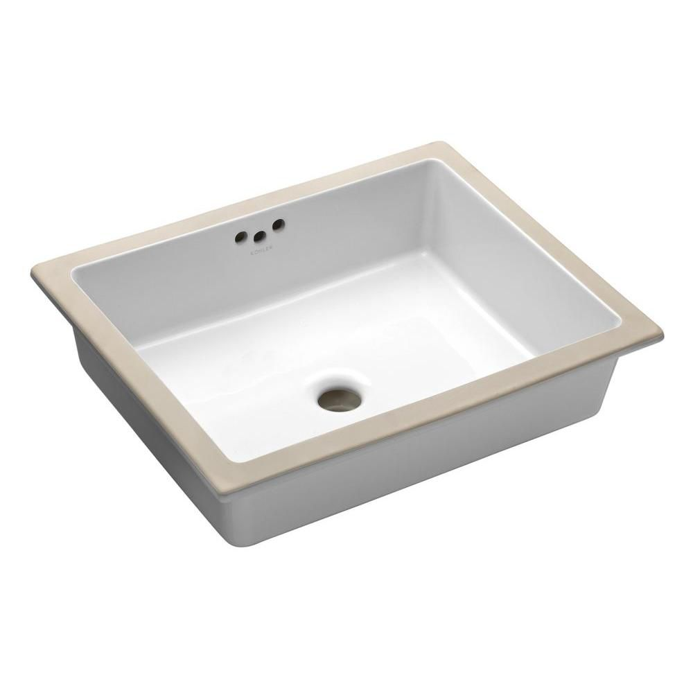 KOHLER Kathryn Undercounter Bathroom Sink In White