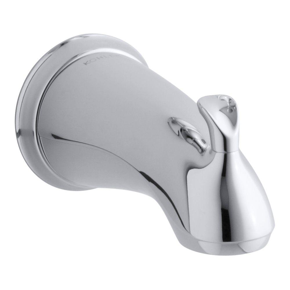KOHLER Forté Sculpted Diverter Bath Spout in Polished Chrome