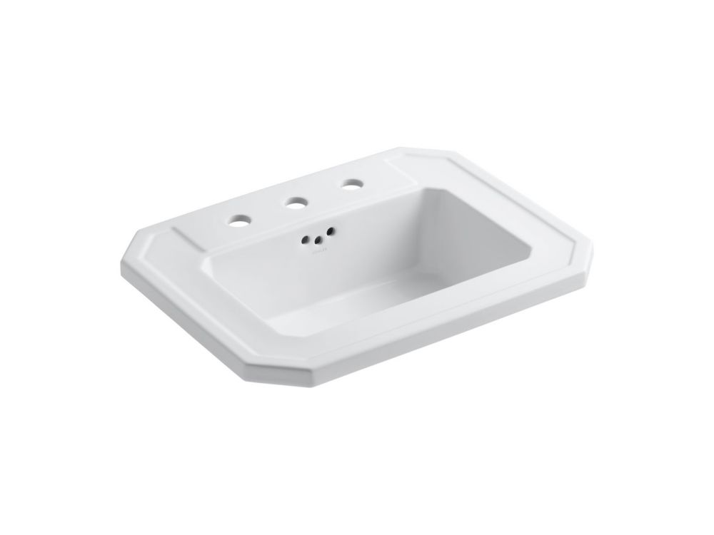 Kathryn Self-Rimming Bathroom Sink in White