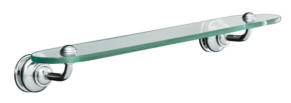 KOHLER Fairfax Glass Shelf in Polished Chrome