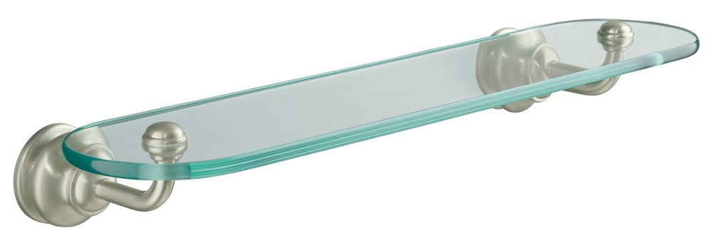 Fairfax Glass Shelf in Vibrant Brushed Nickel