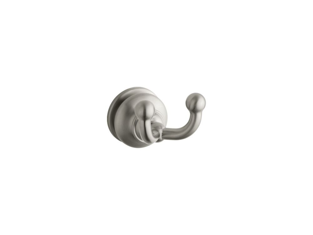 Fairfax Double Robe Hook in Vibrant Brushed Nickel