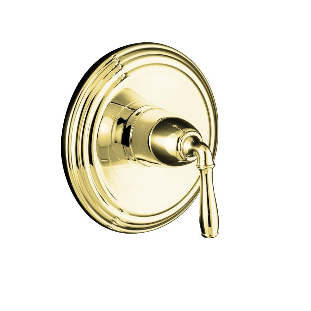 Devonshire Rite-Temp Pressure-Balancing Valve Trim, Valve Not Included in Vibrant Polished Brass