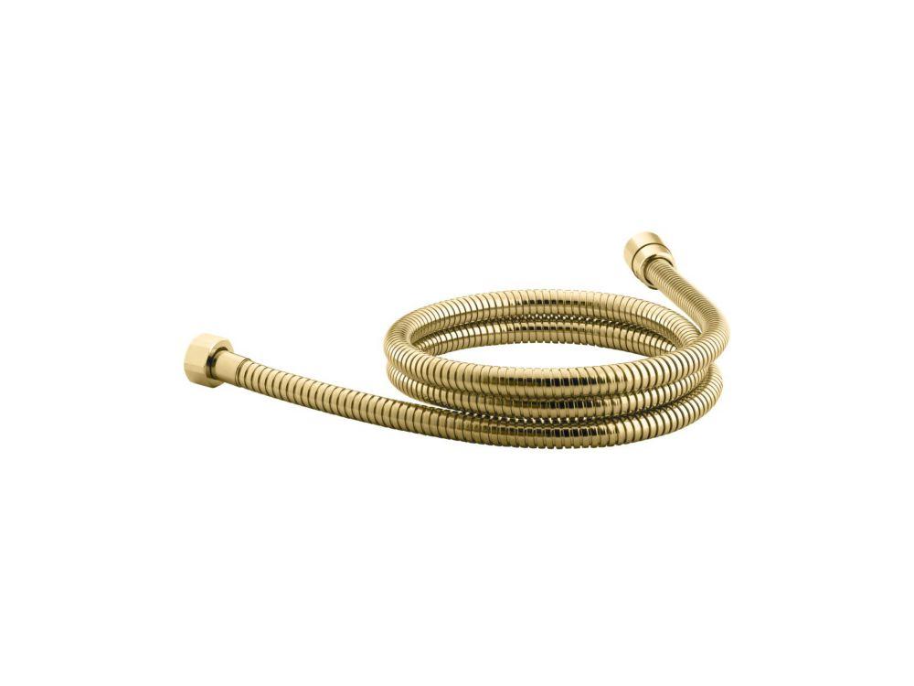 Mastershower 72 Inch Metal Shower Hose in Vibrant Polished Brass